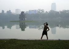 Hoan Kiem lake, Hanoi Stock Photo