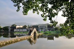The early morning of Hongcun. In china Stock Photos