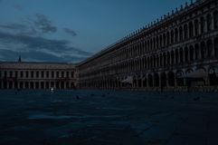 Early morning image of Piazza San Marco stock photos