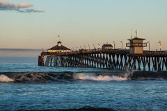 Early Morning on the Imperial Beach Fishing Pier Stock Image