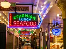 Early Morning In Pike Place Market Stock Photos
