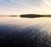 Early morning, Island in Saimaa lake Stock Photography