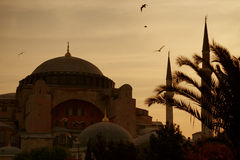 Early morning in Istanbul. (Ayasofya Mosque Stock Photography