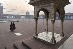 Early Morning At Jama Masjid, Delhi, India Royalty Free Stock Photos