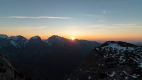 Early morning in Kamnik Savinja Alps royalty free stock photo