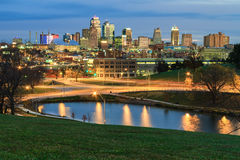 Early Morning in Kansas City. An elevated view of an early morning in Kansas City, Missouri in the fall time stock photography