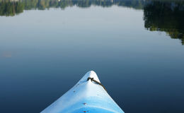 Early Morning Kayak. Kayaking in the early morning hours Stock Photos