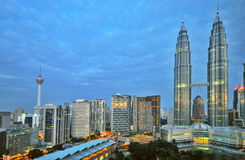 Early Morning KL royalty free stock image