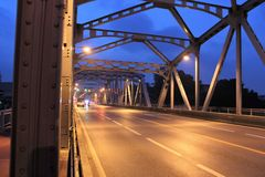 Early morning at Krung Thon Bridge Stock Photo