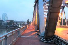 Early morning at Krung Thon Bridge Royalty Free Stock Image