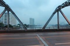 Early morning at Krung Thon Bridge Royalty Free Stock Images