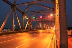 Early morning at Krung Thon Bridge Royalty Free Stock Photography