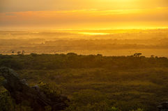 Early Morning in La Macarena. Early morning sunrise in La Macarena, Colombia Stock Photos