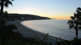 Early Morning Laguna Beach. Sunrise  over Laguna Beach California stock footage