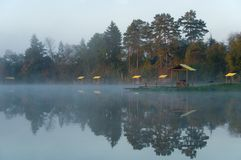 Early morning on lake Royalty Free Stock Photos
