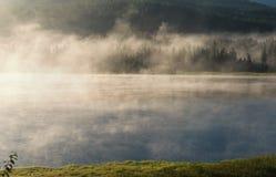 Early morning on lake Stock Photo