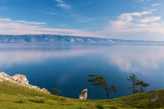 Early morning  at the Lake Baikal Stock Image