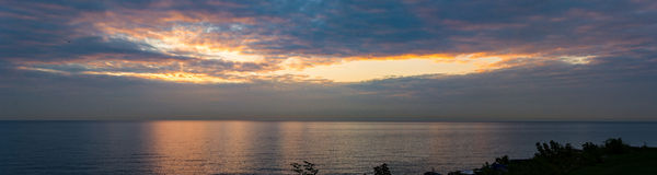 Early Morning Lake Michigan Sunrise. Sunrise over lake Michigan as seen from the Shore North of Chicago stock photography