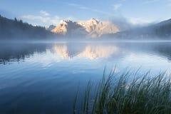 Early morning on the Lake Misurina Stock Images