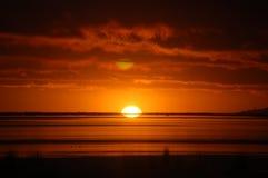 Early morning on Lake Titicaca. Sunrise over Lake Titicaca at Puno, Peru Royalty Free Stock Photos