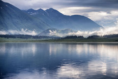 Early morning on lake Royalty Free Stock Photo