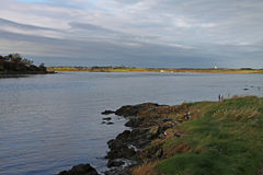 Early morning landscape, four mile bridge, Anglesey Royalty Free Stock Photography