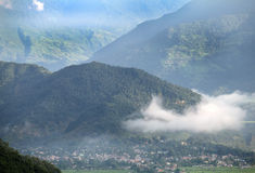 Early morning landscape in Pokhara valley Stock Photo