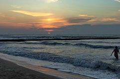 Early morning in Lido di Jesolo,  venetian Riviera, Italy Royalty Free Stock Photography