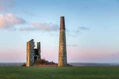 Early Morning Light, Cornish Engine House, St Austell stock photography