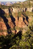 Early morning light on eroded ridges Royalty Free Stock Image