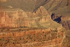 Early morning light on eroded ridges above the Colorado River Stock Image