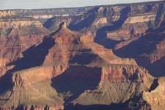 Early morning light on eroded ridges above the Colorado River Stock Images