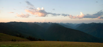 Early Morning Light Olympic Mountains Hurricane Ridge Royalty Free Stock Image