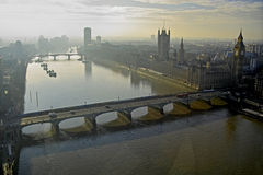 Early morning light on the River Thames Stock Photography