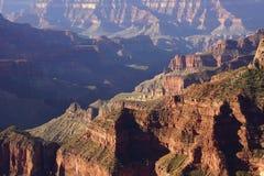 Early morning light on rugged canyon ridges Stock Image