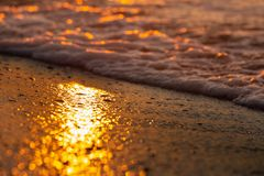 Early morning light on sea surface. out of focus . royalty free stock photos