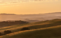 Early morning light in the Tuscany stock photo