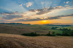 Early morning light  in the Tuscany. Region of Italy Royalty Free Stock Image