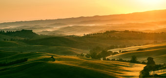 Early morning light in the Tuscany region of Italy stock image