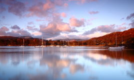 Early morning light on Windermere Royalty Free Stock Photos