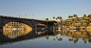 An Early Morning London Bridge Shot, Lake Havasu City Stock Photos