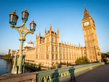 Early morning London:  Houses of Parliament and Big Ben Stock Photography