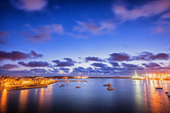 Early morning in Malta. Twilight at South West Malta. Birzebbuga town Royalty Free Stock Photos