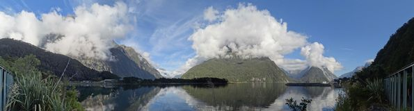 Early Morning at Milford Sound royalty free stock photography
