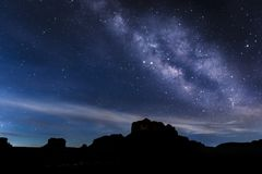 Early Morning Milky Way - Sedona, Arizona Stock Image