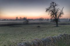 Early morning mist Magor South Royalty Free Stock Images