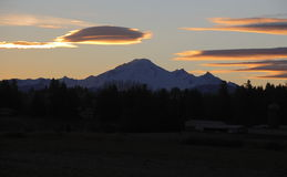 Early Morning and Mount Baker Stock Photo