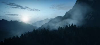 Early morning mountain Royalty Free Stock Images