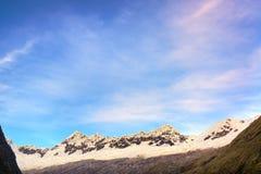 Early Morning Mountain Range Stock Photo