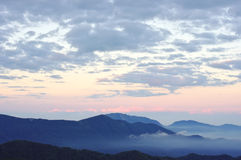 Early morning in the mountains. royalty free stock images